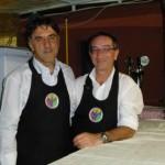 Oscar e Savio, della confraternita Amici del Vino