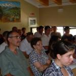 Pubblico in sala polivalente